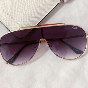 Quay x Jlo El Dinero Gold/Purple Sunglasses
